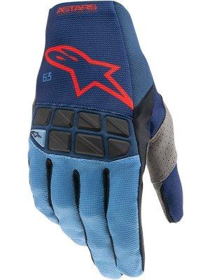 Ръкавици RACEFEND GLOVES DARK BLUE POWDER BLACK BRIGHT RED ALPINESTARS