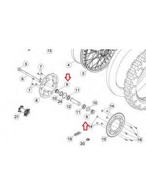 OEM Комплект втулки за задна капла BETA 2T/4T 2013-->