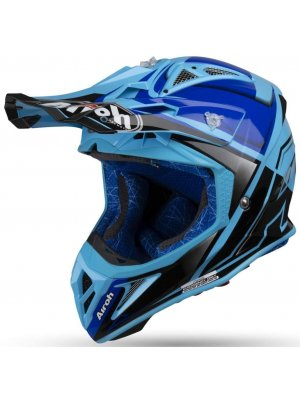 AIROH AVIATOR 2.2 CHECK BLUE GLOSS