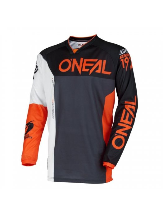 Блуза O'NEAL MAYHEM LITE SPLIT BLACK/ORANGE