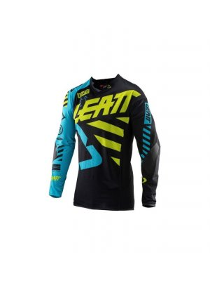 Блуза Leatt GPX 5.5 Ultraweld Jersey Black/Lime