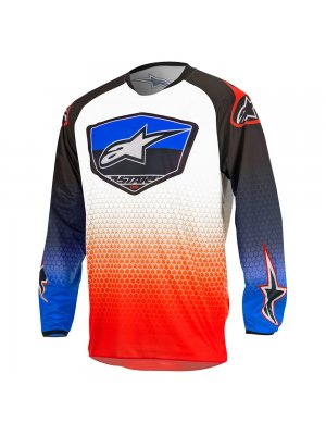 Блуза Alpinestars Racer Supermatic White/Blue/Red Jersey