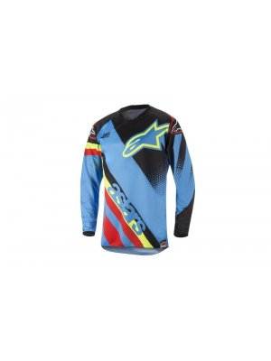 Блуза Alpinestars Racer Supermatic Black/Blue/Red Jersey