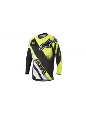 Блуза Alpinestars Racer Supermatic Black/Grey/Yellow Jersey