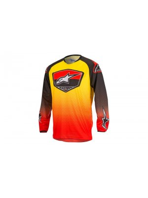 Блуза Alpinestars Racer Supermatic Black/Red/Yellow Jersey