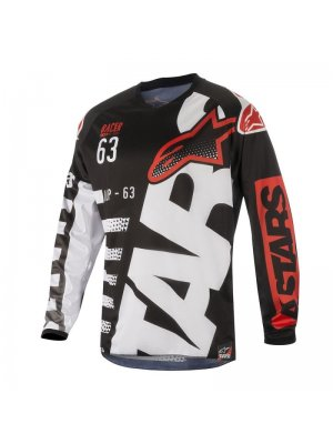Блуза ALPINESTARS RACER BRAAP BLACK/WHITE/RED 2018
