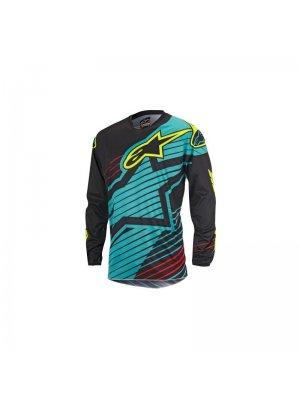 Блуза ALPINESTARS RACER BRAAP Teal/Black/Yellow Fluo