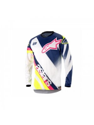 Блуза ALPINESTARS RACER SUPERMATIC BLUE/WHITE/YELLOW 2018
