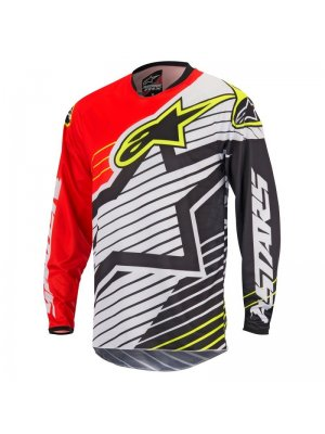 Блуза Alpinestars Racer Braap Black/White/Red Jersey
