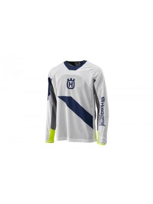 Блуза HUSQVARNA RAILED SHIRT WHITE