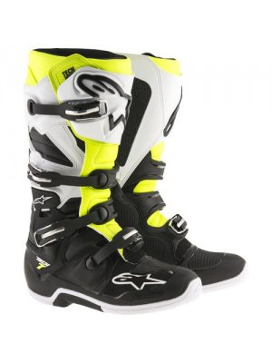 БОТУШИ ALPINESTARS MX TECH 7 Black White Yellow