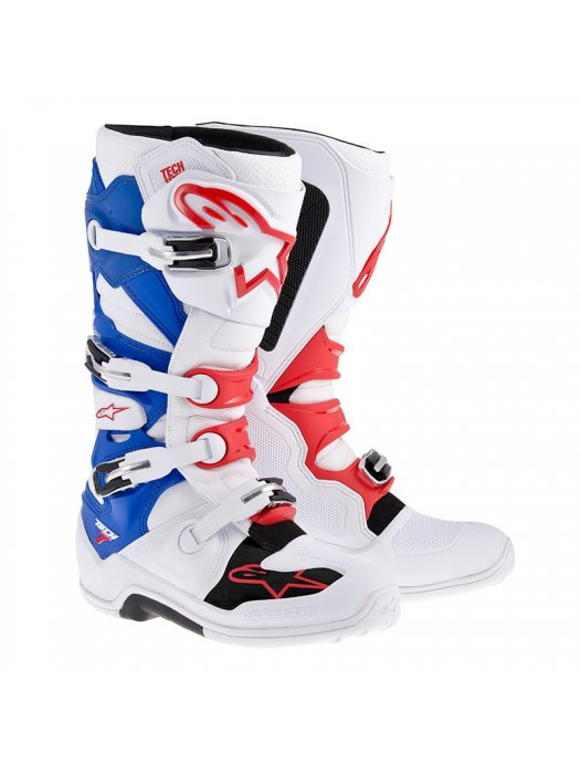 БОТУШИ ALPINESTARS MX TECH 7 White Blue Red