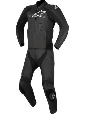 Alpinestars Challenger V2 Leather Suit 2PC Black