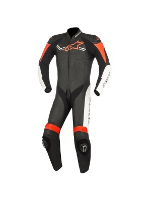 Alpinestars Challenger V2 Leather Suit 2PC red