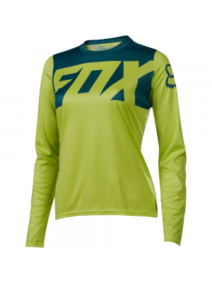 Джърси Fox Womens Ripley LS Yellow Jersey