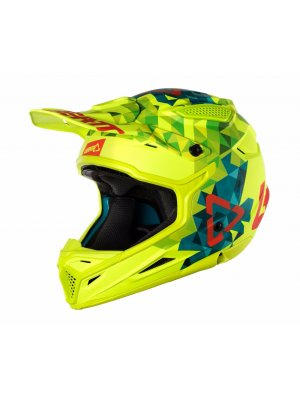 Каска Leatt GPX 4.5 V22 Lime/Teal