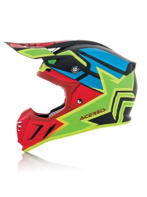 Acerbis Profile 3.0 Snapdragon Black/Red/Green Matte
