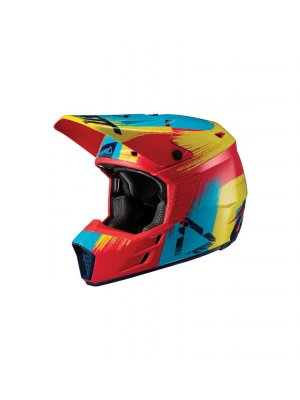 Каска Leatt HELMET GPX 3.5 V19.1 RED/LIME DOT + ECE