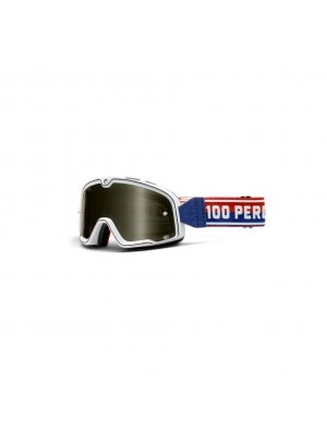 Очила 100 % S6 The Barstow Classic White Smoke Lens Goggles