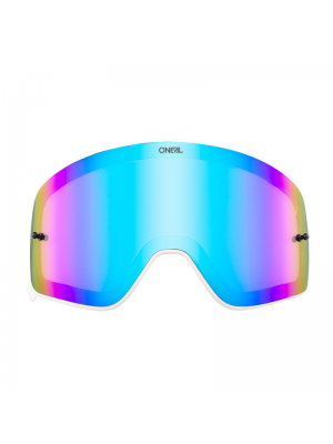 Магнитна плака за очила O'NEAL B-50 WHITE FRAME RADIUM/BLUE