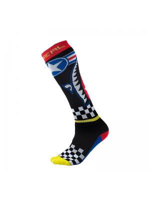 Чорапи O'NEAL PRO MX WINGMAN BLACK/BLUE/RED/YELLOW