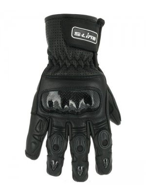 Ръкавици S-Line Black Leather Gloves