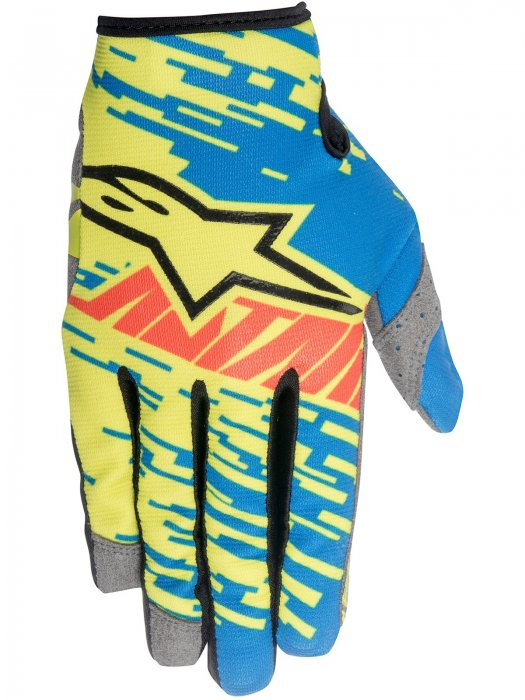 Ръкавици Alpinestars RACER BRAAP Blue/Yellow Gloves