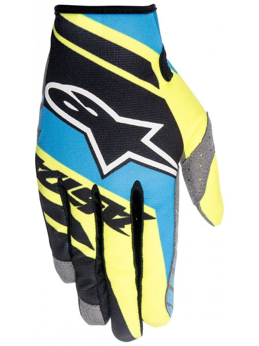 Ръкавици Alpinestars RACER SUPERMATIC Blue/Yellow Gloves