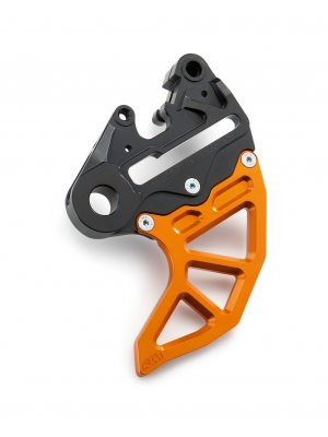 BRAKE CALIPER SUPPORT WITH BRAKE DISC GUARD KTM