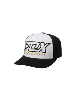 Детска шапка FOX YOUTH EDIFY SNAPBACK BLK/WHT