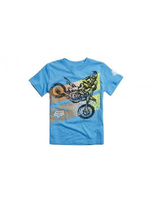 Детска тениска FOX YOUTH ONAGA SS BLUE