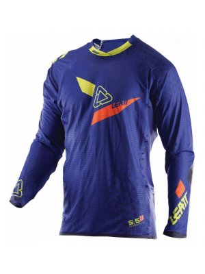 Блуза Leatt GPX 5.5 Ultraweld Jersey Blue/Lime