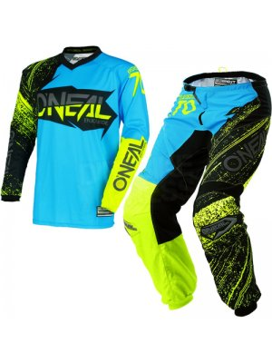 Крос екип O'NEAL ELEMENT BURNOUT BLACK/BLUE/HI-VIZ 2018