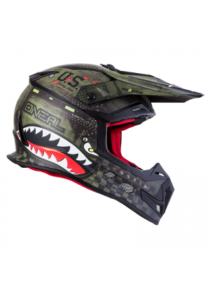 Каска O'NEAL 5 SERIES WARHAWK BLACK/GREEN