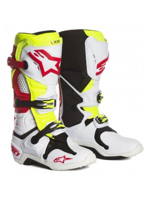 ALPINESTARS MX TECH 10 white red yellow