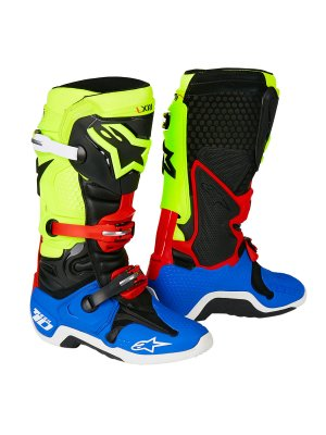 ALPINESTARS MX TECH 10 black yellow blue