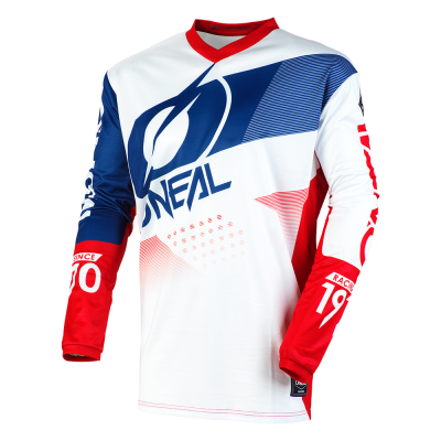 Блуза O'NEAL ELEMENT FACTOR WHITE/BLUE/RED