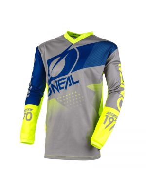 Детска блуза O'NEAL ELEMENT FACTOR GRAY/BLUE/NEON YELLOW