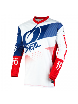 Детска блуза O'NEAL ELEMENT FACTOR WHITE/BLUE/RED