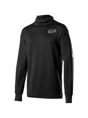 FOX DEFEND THERMO HOODED JERSEY BLACK