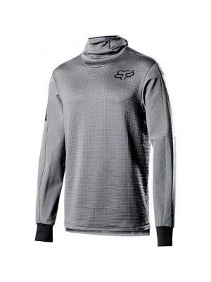 FOX DEFEND THERMO HOODED JERSEY STL GRY