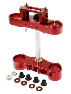 Triple clamp Sachs 48 2S RED