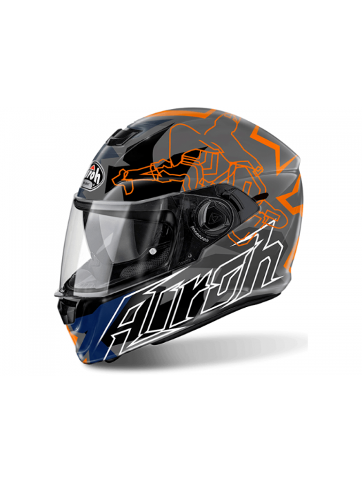 Каска Airoh STORM BIONIKLE ORANGE GLOSS Helmet