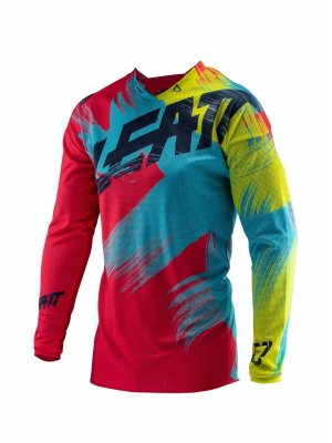 Блуза Leatt GPX 4.5 LITE Jersey Red/Lime 2019