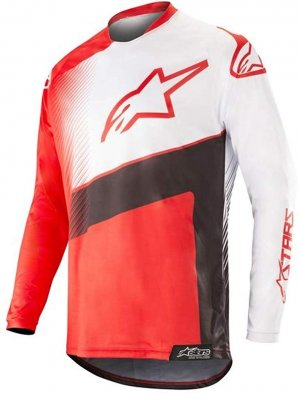 Блуза Alpinestars Racer Supermatic Black/White/Red Jersey