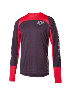 FOX DEFEND LS FOX JERSEY [DRK PUR]