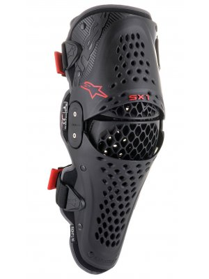 Наколенки SX-1 KNEE PROTECTOR BLACK RED ALPINESTARS
