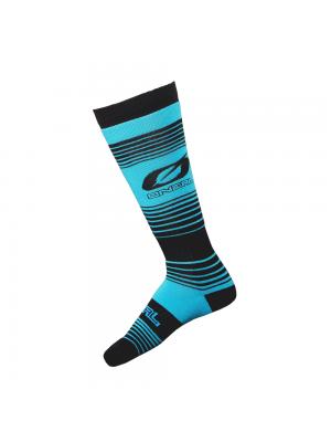 Термо чорапи O'NEAL Pro MX STRIPES TEAL/BLACK