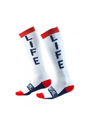 Термо чорапи O'NEAL PRO MX MOTO LIFE WHITE/RED/BLUE 2020