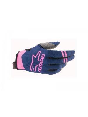 Ръкавици RADAR GLOVES DK BLUE PINK FLUO ALPINESTARS